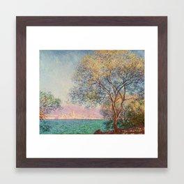 Antibes in the Morning, 1888 - Claude Monet Framed Art Print