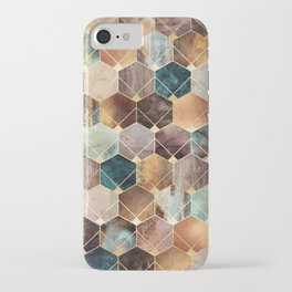 Natural Hexagons And Diamonds iPhone Case