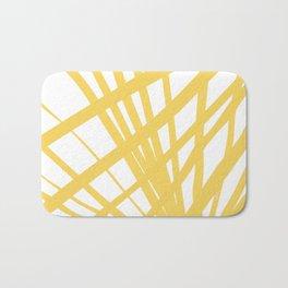 Dandelion in Yellow by Friztin Bath Mat