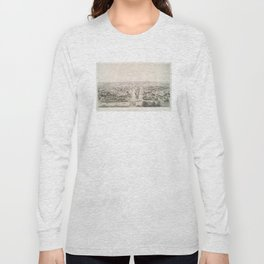 Vintage Pictorial Map of Rochester NY (1854) Long Sleeve T-shirt