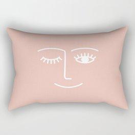 Wink / Pink Rectangular Pillow