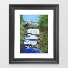 Falls on the river Framed Art Print