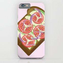 Avocado Tomato sandwich iPhone Case