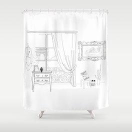 Apartement in Paris Shower Curtain