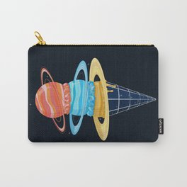 Space-Time Cone-Tinuum (Dark) Carry-All Pouch
