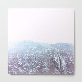 Snowfall On The Wall Metal Print