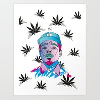 "chance the rapper Art Prints featuring ""Chance The Rapper"" by Sydney The Artist"