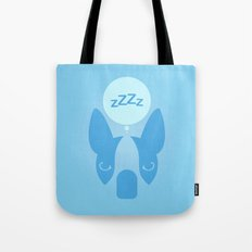 Boston Terrier Thoughts: Sleep. Tote Bag