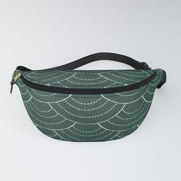 Green sashiko Fanny Pack