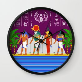 Egyptian Night Wall Clock