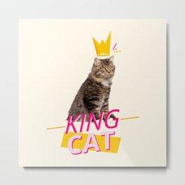 King Cat Metal Print