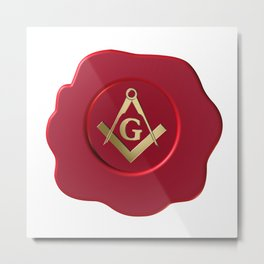 Masonic wax seal Metal Print