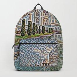 India Taj Mahal Artistic Illustration Carpet Style Backpack