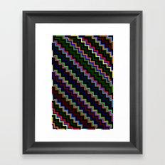 Pixel Split no.4 Framed Art Print