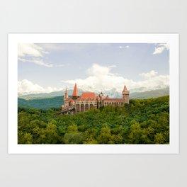 Hunedoara, Romania - Corvin Castle or Hunyadi Castle (Castelul Corvinilor or Castelul Huniazilor) Art Print