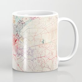 Columbia map South Carolina painting Coffee Mug