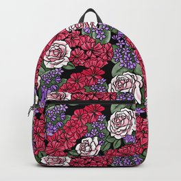 Chevron Floral Black Backpack