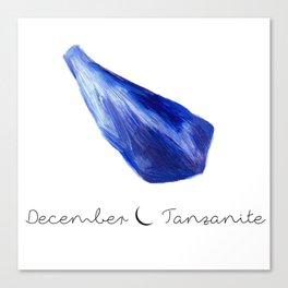 december tanzanite Canvas Print