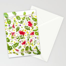 Leaves and flowers pattern (30) Stationery Cards