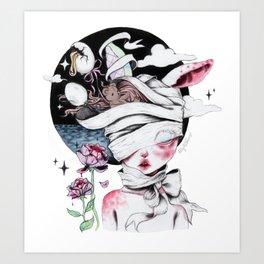 Coma Dreams (colour) Art Print