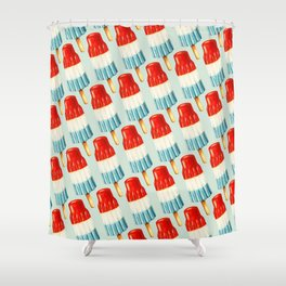 USA 4th of July Popsicle Pattern Shower Curtain