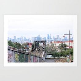 Footscray city view Art Print