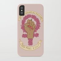 kendrawcandraw iPhone & iPod Cases featuring Femme Is Not Fragile by kendrawcandraw