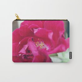 Red Semi-Plena Rose Carry-All Pouch