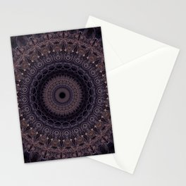 Mandala in cherry and plum tones Stationery Cards