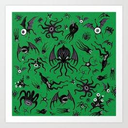 Cosmic Horror Critters Art Print