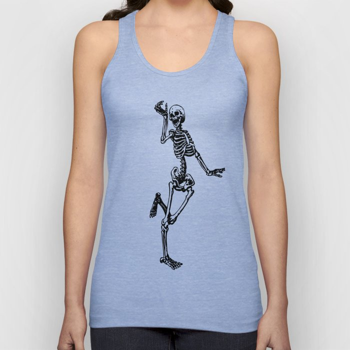 Dancing Skeleton Unisex Tank Top