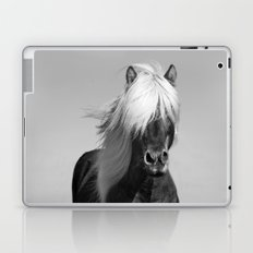 Portrait of a Horse in Scotish Highlands Laptop & iPad Skin