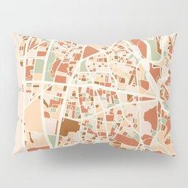 BEIRUT LEBANON CITY MAP EARTH TONES Pillow Sham