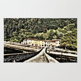 Ponte della Maddalena-Tuscany, Italy Rug