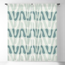 Directions Small in Dusty Teal Blackout Curtain