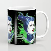 maleficent Mugs featuring Maleficent by marziiporn