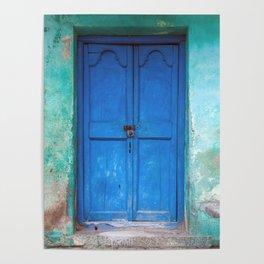 Blue Indian Door Poster