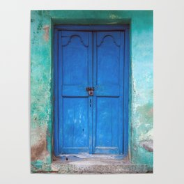 Blue Indian Door Poster