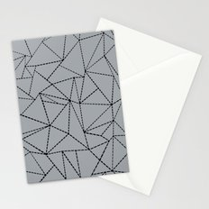 Ab Dotted Lines B on Grey Stationery Cards