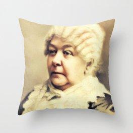 Elizabeth Cady Stanton, Suffragette Throw Pillow