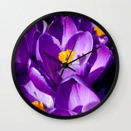 Purple sea Wall Clock