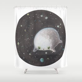 Blob floating in space Shower Curtain