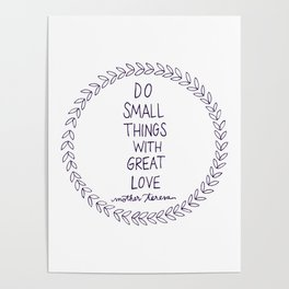 Do Small Things Poster