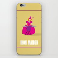 iron maiden iPhone & iPod Skins featuring IRON MAIDEN by mangulica