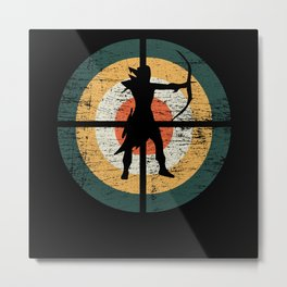 Archer Vintage Retro Metal Print