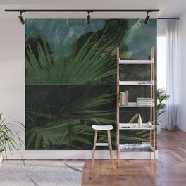 Dark Palm Wall Mural