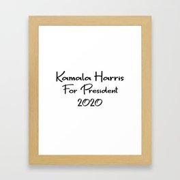 Kamala Harris for President Framed Art Print
