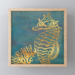 Deep Sea Life Seahorse Framed Mini Art Print