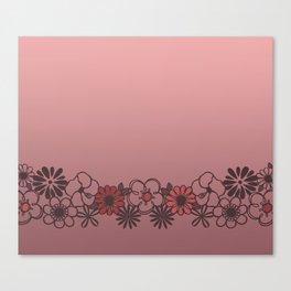Kitschy Flower Medley Pink Canvas Print