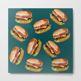 Deluxe Cheeseburger Metal Print